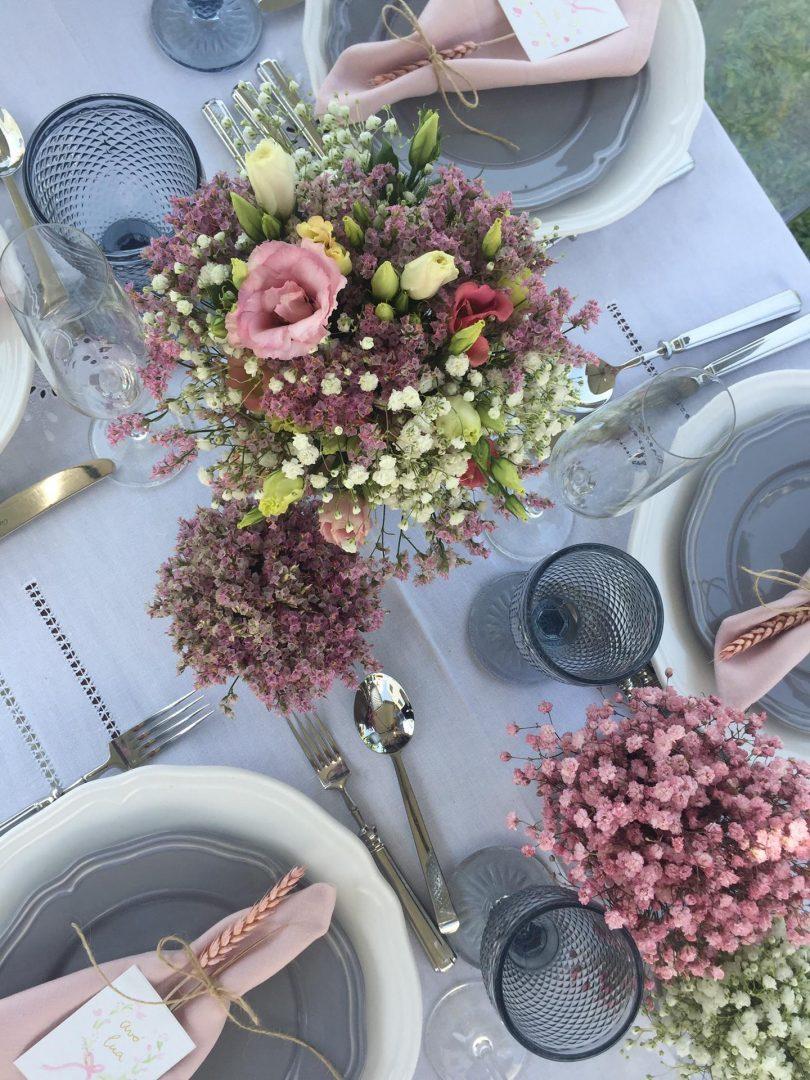 flores como decoração de Festas em Casa